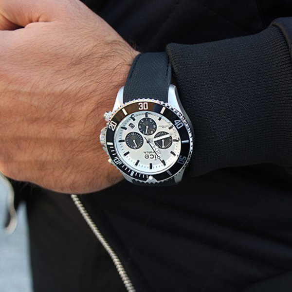 ICE steel - Black Silver - Chrono